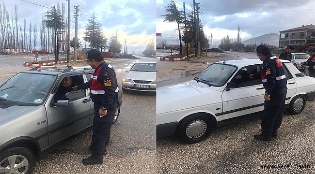 Dinar'da Jandarma Trafik Ekiplerinden Uygulama