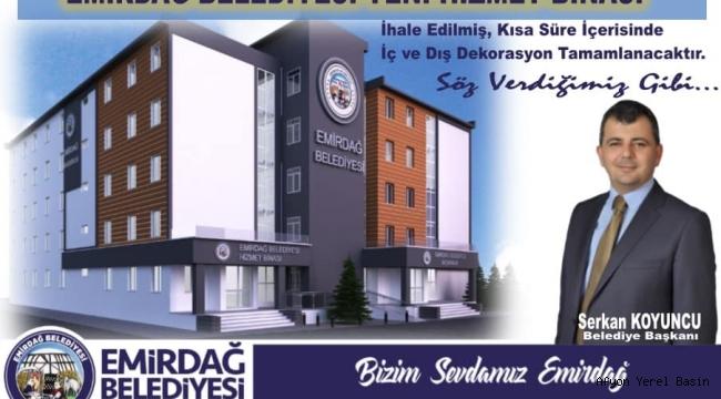 Emirdağ Belediyesi yeni hizmet binasına kavuşuyor