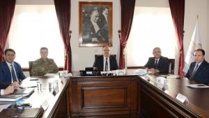Güvenlik ve Asayiş Konularıyla İlgili Toplantı Yapıldı