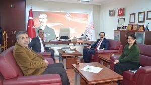 Mustafa Tarlacı Yasin Evcin'i Ziyaret Etti