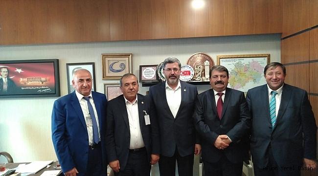 Başkan Nihat Sarı Milletvekili Ali Özkaya'yı ziyaret etti