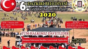 Dazkırı'da Geleneksel Rahvan At Yarışının 6.'sı Düzenlenecek