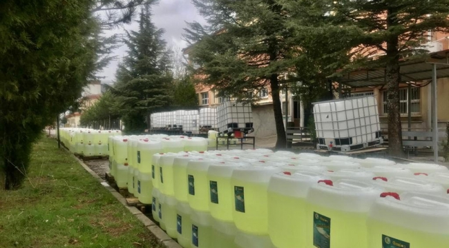 PİLOT OKUL GAZİ MESLEK, 150 TON HİJYEN SOLİSYONU ÜRETTİ