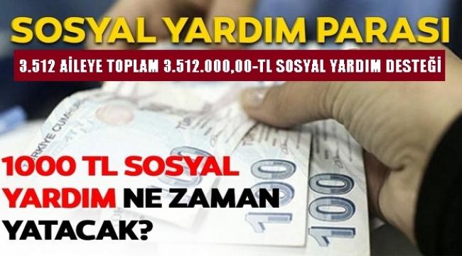 3.512 AİLEYE TOPLAM 3.512.000,00-TL SOSYAL YARDIM DESTEĞİ