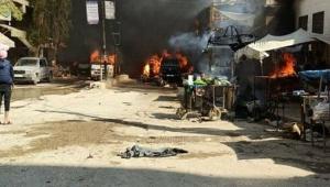 Afrin'de sivillere bomba yüklü araçla saldırı