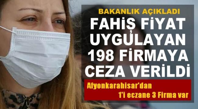 Afyonkarahisar'dan Fahiş fiyat artışı yapan 3 Firmaya ceza..!!
