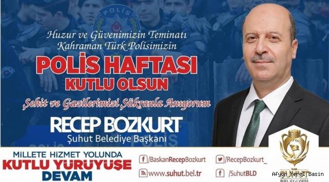 Başkan Bozkurt'tan Polis Haftası Mesajı