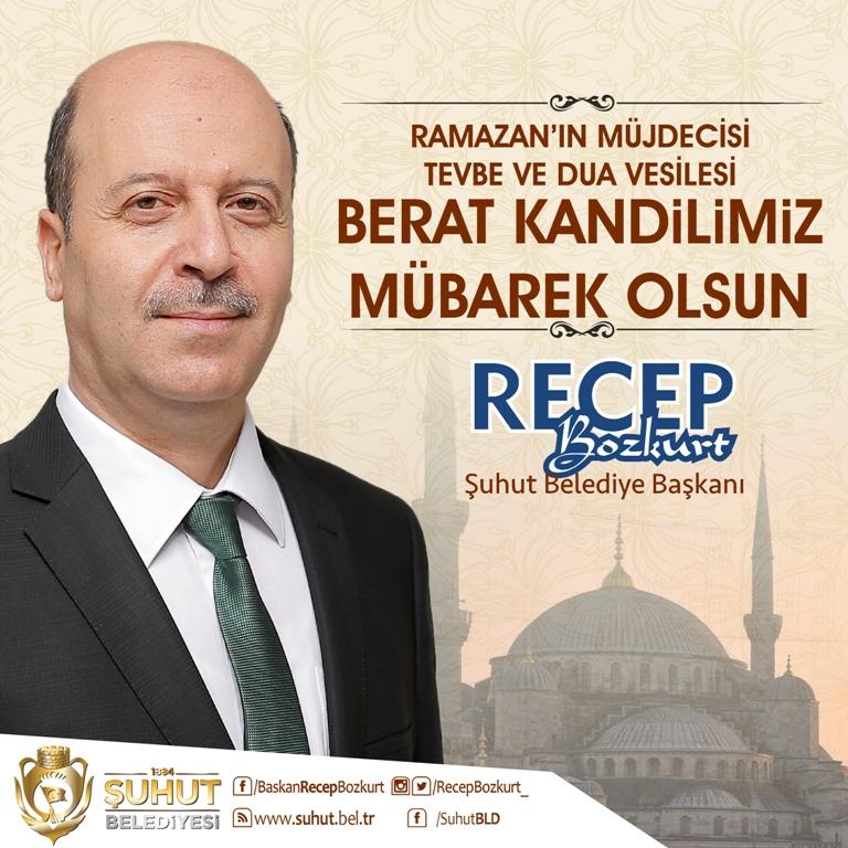 Başkan Bozkurt'tan Regaip Kandili Mesajı