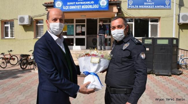 Başkan Bozkurt'tan Şuhut Emniyet Amirliğine Ziyaret