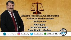 Başkan Sarı'dan Avukatlar Günü Mesajı