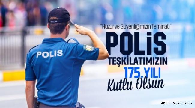 BAŞKAN ZEYBEK´TEN POLİS HAFTASI MESAJI