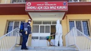 SANDIKLI AÇIK CEZAEVİ DEZENFEKTE EDİLDİ