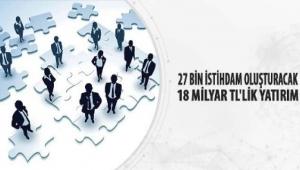 27 Bin İstihdam Oluşturacak 18 Milyar Tl'lik Yatırım