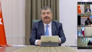 Bakan Koca, DSÖ'ye Türkiye'nin Covid-19 Mücadelesini Anlattı