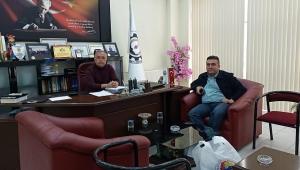 Başkan Tezcan'da Dinar TSO Başkan'ı Bağırkan'a Ziyaret