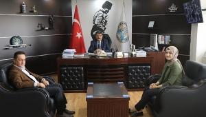 Halk Bankası Müdürü Akkaya'dan Başkan Nihat Sarı'ya Ziyaret