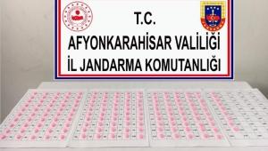 AFYONKARAHİSAR'DA 159 ADET EKSTAZİ HAP ELE GEÇİRİLDİ