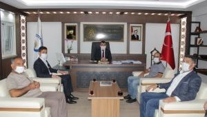 Başkan Koyuncu'ya 'Hayırlı olsun' ziyareti
