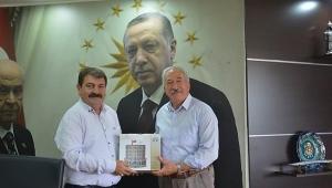 Mehmet Ceylan'dan Başkan Nihat Sarı'ya Veda Ziyareti