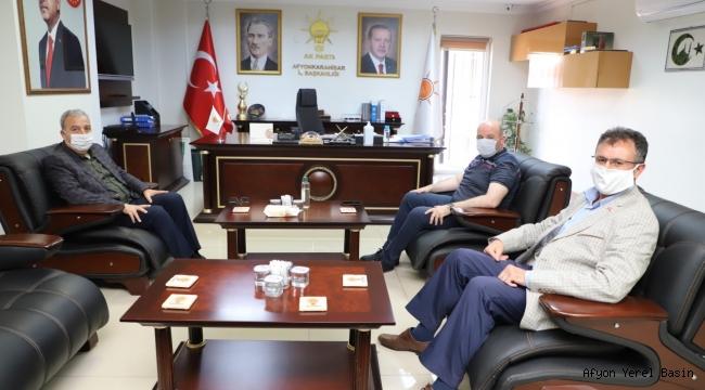 MHP İL BAŞKANI KOCACAN'DAN AK PARTİ İL BAŞKANI SEZEN'E NEZAKET ZİYARETİ