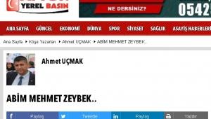 ABİM MEHMET ZEYBEK..
