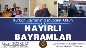 Başkan Bozkurt'tan Kurban Bayramı Mesajı