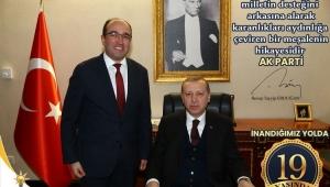 """BAŞKAN MUSTAFA ÇÖL """"AK PARTİ 19 YAŞINDA"""""""