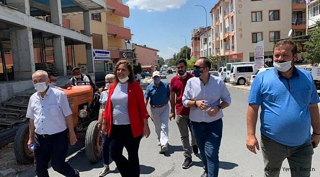 CHP Milletvekili Köksal Dinar'da Halka Buluştu