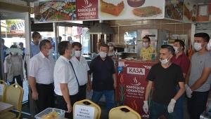 Dinar'da İşyerlerine Koronavirüs Denetimi