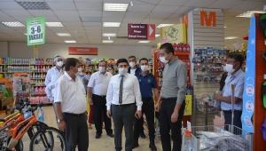 Dinar'da Korona virüs tedbirleri denetimi yapıldı