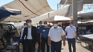 Dinar'da Koronavirüs Denetlemeleri devam ediyor