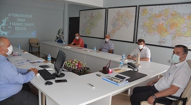 Dinar'da OSB Yönetim Toplantısı
