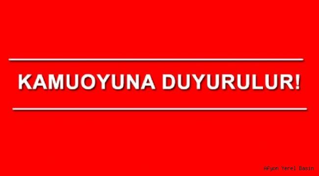 KAMUOYUNA DUYURULUR