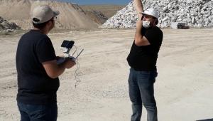 Maden Ve Harita Mühendisliği Bölümleri İscehisar Mermer Ocaklarında İHA'larla Saha Etütleri Yapmaya Başladı