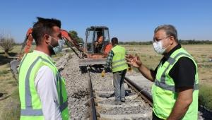 Adem Sivri, Demiryolu İyileştirme Çalışmalarını Denetledi..