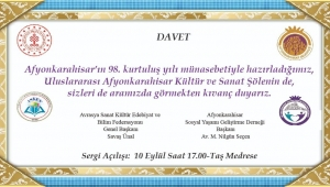 AFYON KÜLTÜR VE SANAT ŞÖLENİ DAVETİ.