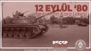 Başkan Bozkurt'tan 12 Eylül Mesajı.