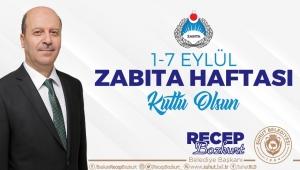Başkan Bozkurt'tan Zabıta Haftası Mesajı.