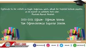 Başkan Sarı'dan 2020 -2021 Eğitim Öğretim Yılı Mesajı..
