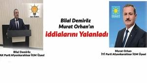 Bilal Demiröz ,Murat Orhan'ın İddialarını Çürüttü.