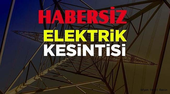 Dinar'da Habersiz Elektrik Kesintisi