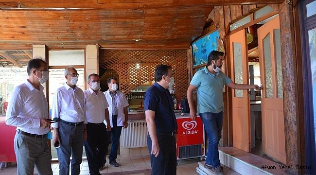 Dinar'da Korona Virüs Denetlemeleri Sıklaştırıldı.