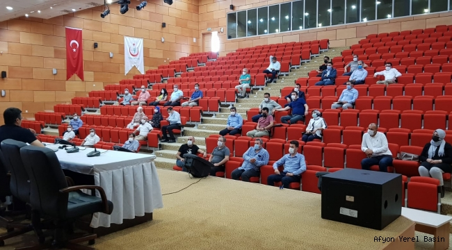 Merkez ve İlçe Hastanelerle Covid-19 Toplantısı Yapıldı