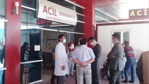Sağlık İl Müdürü Korkmaz Covid Bölümlerini ziyaret etti
