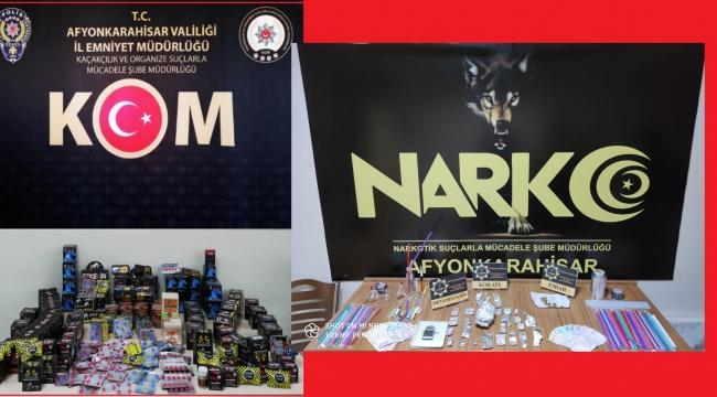 AFYON EMNİYETİ UYUŞTURUCU MADDE SATICILARINA GÖZ AÇTIRMIYOR..