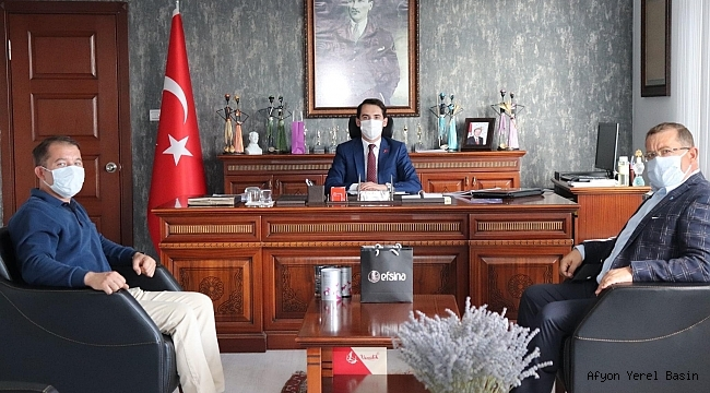 Başkan Vedat Özdemir'den Kaymakam Sakarya'ya ziyaret