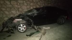 Dinar ilçesinde zincirleme kazada 2 kişi yaralandı.