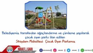 Dinar İlçesine yeni çocuk oyun parkları kazandırıyoruz