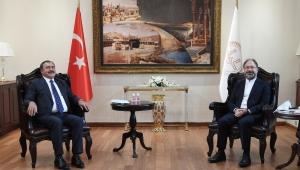 EROĞLU YENİ MÜFTÜLÜK BİNASI İÇİN ERBAŞ'I ZİYARET ETTİ..
