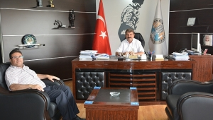 Orman İşletme Müdürü Akoğlanoğlu'ndan Başkan Sarı'ya İade-i Ziyaret
